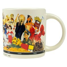 This unique mug depicts a brief history of art, from the Lascaux Caves of southwestern France to Spanish painter and sculptor Pablo Picasso (1881-1973). The perfect gift for art lovers and history buffs alike.
