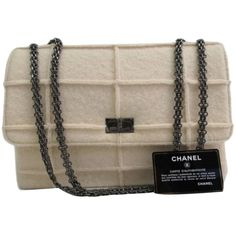 b787d43a5509 Pre-owned Chanel Mademoiselle Style, Card Included Cream Cross Body... ( ·  Quilted HandbagsBrown ...