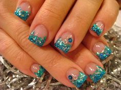glitter nail designs | Gel Polish Cheetah Acrylic Nails | Nails Acrylic