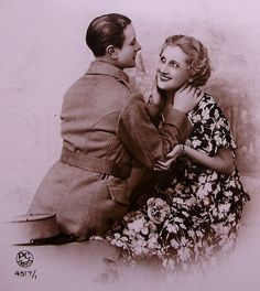 Romantic French Postcard Unused  I've Read in Your by ChicEtChoc, $5.50