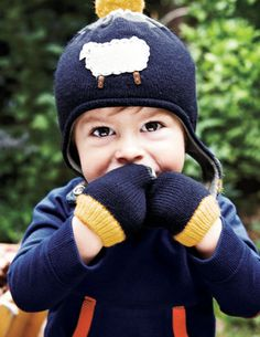 Logo Hat & Mittens Set 78065 Accessories at Boden Toddler Outfits, Kids Outfits, Sheep Logo, Mini Boden, Boden Uk, Cute Sheep, Boys Accessories, Kids Boutique, Online Shopping Clothes