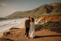 Beautiful future Bride & Groom on the Coast of Big Sur engagement session. Flora Gibson Photography Big Sur California wedding and elopement photographer Beach Elopement, Beach Engagement, Engagement Session, Engagement Photos, Big Sur California, California Wedding, Engagement Inspiration, Bride Groom, Getting Married