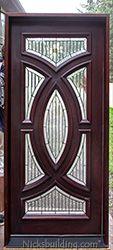 Exterior Single Mahogany Doors