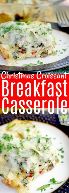 Low Carb Recipes To The Prism Weight Reduction Program Christmas Croissant Breakfast Casserole This Creamy, Cheesy, Egg-Y Vegetarian Recipe Is Assembled The Night Before, So All You Have To Do Is Bake In The Morning. Croissant Breakfast Casserole, Healthy Breakfast Casserole, Vegetarian Breakfast Recipes, Healthy Breakfast Smoothies, Breakfast Bake, Brunch Recipes, Breakfast Ideas, Morning Breakfast, Vegetarian Casserole