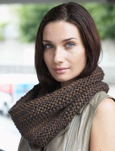 Yarnspirations.com - Patons Garter Stitch Cowl - Patterns  | Yarnspirations