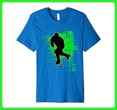Mens Green Splatter Ice Hockey Player T-Shirt XL Royal Blue - Sports shirts (*Amazon Partner-Link)
