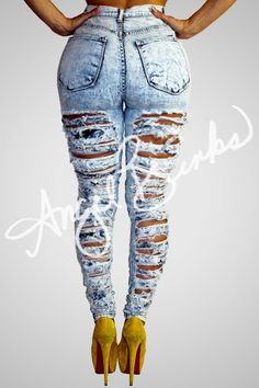 Double Sided Destroyed Jeans (Light)