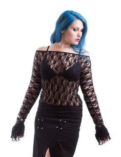 Necessary Evil Gothic Ziva Lace Top