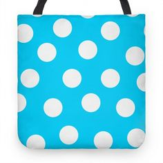 Blue polka dot tote