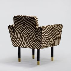 Sofa Chair, Swivel Chair, Armchair, Luxury Furniture, Home Furniture, Furniture Design, Zebra Chair, Oriental Furniture, Up House