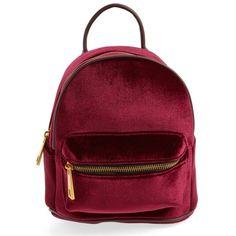 0d61443bfa Women's Street Level Velvet Backpack ($24) ❤ liked on Polyvore featuring  bags, backpacks