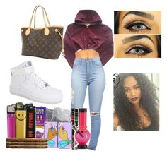 """""""✨"""" by trapqueenaf ❤ liked on Polyvore featuring NIKE and Louis Vuitton"""