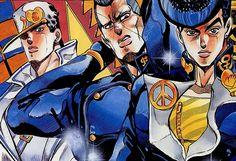 Jotaro Kujo, Okuyasu Nijimura, and Josuke Higashikata, JoJo's Bizarre Adventure : Diamond is Unbreakable