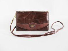 Vintage Crossbody Bag  Patchwork  Brown by funkyvintage780 on Etsy