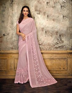 Product Features: Saree Color: Pink Blouse Color: Pink Saree Fabric: Lycra Blouse Fabric: Raw Silk Type of Work: Product Weight: 500 Gram Occasion: Partywear Fabric Care: Dry Clean Disclaimer: Color May Vary due to Photographic Effect Trendy Sarees, Fancy Sarees, Raw Silk Saree, Satin Saree, Cotton Saree, Party Wear Sarees Online, Bollywood Dress, Bollywood Fashion, Indian Clothes Online
