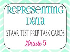 INCLUDES:-36 test-prep task cards-Answer key-Student recording sheetTypes of questions include:-Scatterplots-Frequency Tables-Dot Plots-Bar Graphs-Stem-and-Leaf Plots-Pictographs*All questions are great test-prep questions!TEKS ALIGNED: -5.9C: solve one and twostep problems using data from a frequency table, dot plot, bar graph,stemandleaf plot, or scatterplot-5.9A: represent categorical data with bar graphs or frequency tables and numerical data, including data sets of measurements in…