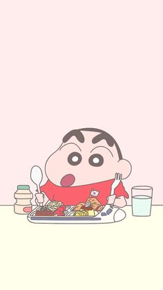 Sinchan Wallpaper, Cartoon Wallpaper Iphone, Kawaii Wallpaper, Cute Cartoon Wallpapers, Pattern Wallpaper, Wallpaper Backgrounds, Crayon Shin Chan, Doraemon Wallpapers, Animes Wallpapers