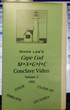 Hank Lee's Cape Cod Magic Conclave Video Vol 3 1993 VHS Video Please check out all our rare value priced Magic tricks & Books at: http://stores.ebay.com/webrummage
