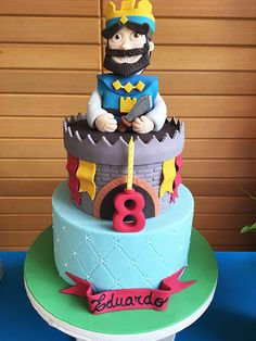 Clash Games provides latest Information and updates about clash of clans, coc updates, clash of phoenix, clash royale and many of your favorite Games Birthday Cake Kids Boys, 10th Birthday, Beautiful Birthday Cakes, Beautiful Cakes, Torta Clash Royale, Royal Cakes, Chocolate, Bolo Cake, Minecraft Cake