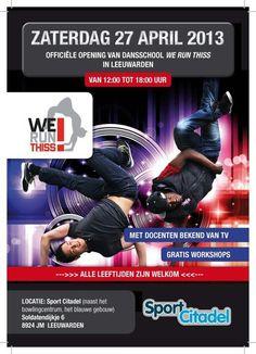 Flyer opening dansschool We Run Thiss!