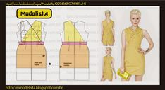 Dress Pattern Draft From: http://mmodelista.blogspot.com/2014/01/esconde-coracao.html?spref=fb