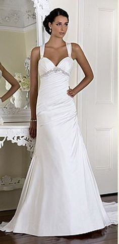 wedding dress I LOVE this dress! It's plain and simple but has this little bling