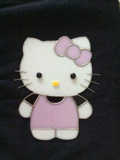 Stained glass Hello Kitty