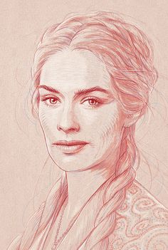 A set of Game of Thrones portraits created before the new season premiere.