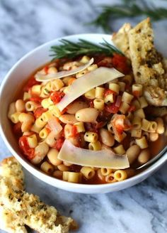 Make White Bean Pasta Soup on a rainy day with this easy recipe.