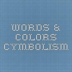 Words & Colors - Cymbolism