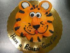 Blue & Gold Banquet Cake Idea: Tiger Cupcake Cake