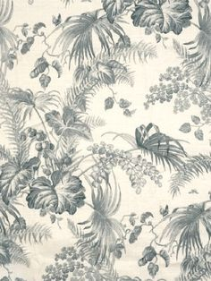 DecoratorsBest - Detail1 - Scala 16447-004 - Tropical Toile - Gustavian Blue and Ivory - Fabrics - DecoratorsBest