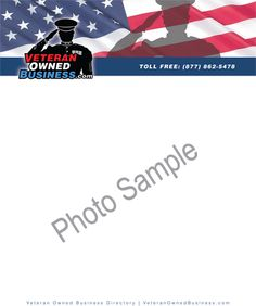 Veteran Owned Business Letterhead.