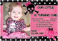 Punk Princess Birthday Invitation printyourown by planBdsigns, $15.00