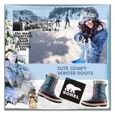 """""""Introducing the 2015 Winter Collection from SOREL: Contest Entry"""" by lovee39 ❤ liked on Polyvore featuring SOREL, Shea's Wildflower and Kershaw"""