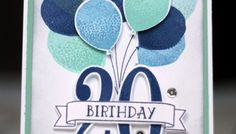 Birthday card made using Balloon Celebration & Number of Years from Stampin' Up! - Balloons teens - Birthday card made using Balloon Celebration & Number of Years from Stampin& Up! – with Mich - Birthday Cards For Boys, Bday Cards, Handmade Birthday Cards, Happy Birthday Cards, Greeting Cards Handmade, Birthday Numbers, Scrapbook Ideas For Birthday, Birthday Images, Birthday Wishes