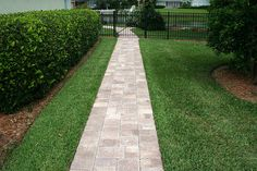 Mega Olde Towne provides all the charm of Olde Towne in larger sizes for an even more dramatically classic profile. Paver Walkway, Brick Pavers, Hardscape Design, Tampa Florida, Pathways, Garden Paths, Orlando, Larger, Outdoor Living