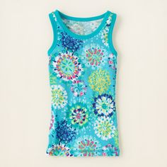 girl - shorts - matchables print tank top   Childrens Clothing   Kids Clothes   The Childrens Place