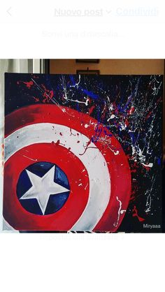 Avengers Painting, Avengers Art, Marvel Art, Avengers Shield, Captain America Painting, Marvel Canvas, Marvel Paintings, Simple Canvas Paintings, Mini Canvas Art