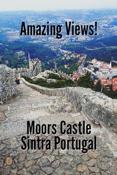 Medieval Castle in Sintra, Moors Castle has breathtaking views!