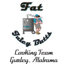 Fat N Juicy BBQ Team Logo