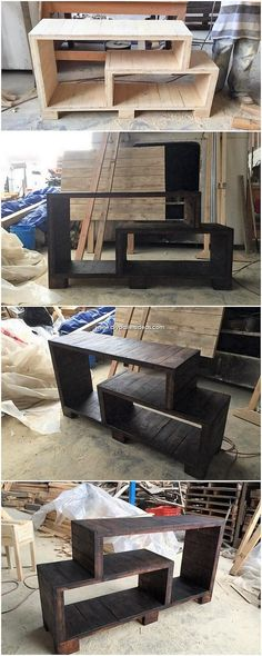 Inventive DIY Wood Pallet Ideas 2018 This is a small although looks like to be a durable structure of the pallet TV stand piece that is being enclosed with the light in weight coverage. Tv Pallet, Diy Wood Pallet, Wood Pallet Furniture, Diy Pallet Projects, Wooden Pallets, Wooden Diy, Pallet Ideas, Wood Projects, Diy Furniture