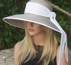Wide Brim Hat Kentucky Derby Hat Wedding Hat Audrey by AwardDesign - 130