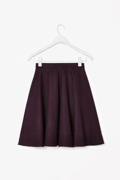 A-line wool-mix skirt