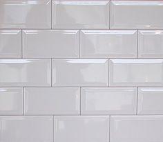about Wall Tiles -- Gloss White Bevel Subway Tile Selling per Square Metre Wall Tiles Gloss White Bevel Subway Tile Selling PER Square Metre in Brisbane, QLD Brick Tiles Kitchen, Metro Tiles Kitchen, Kitchen Backsplash, White Beveled Subway Tile, White Tiles, Subway Tiles, Blue Tiles, Elle Decor, Metro White