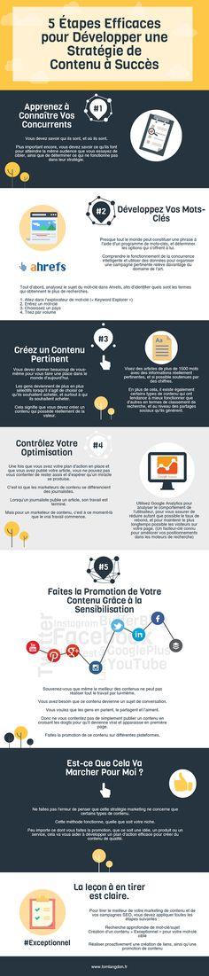▷ [Infographie] 5 Étapes Efficaces pour Développer une Stratégie de Contenu à Succès | Webmarketing & co'm