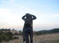 Victoria Wrap - in Heather Gray - throw jacket hoodie. $87.00, via Etsy.