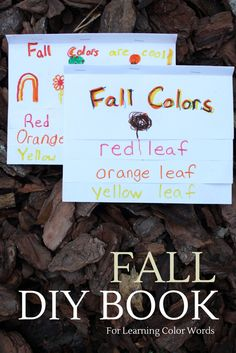 Make a FALL Color Word Book for preschool and grade school learning: sight… Preschool Color Activities, Fun Activities For Preschoolers, Autumn Activities For Kids, Preschool Literacy, Preschool Lessons, Writing Activities, Preschool Journals, Learning Colors, Learning Time