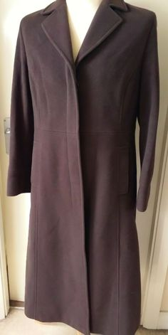 M&S MARKS & SPENCER Cashmere Wool Blend Coat Women s Ladies 12 Brown 25% OFF!