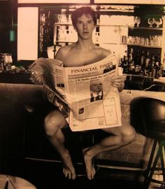 Nothing to see here - just Sherlock 'Benedict Cumberbatch' Holmes reading a newspaper. And oh, right: he's nude. #soooo #sexy #man #dragon #hot